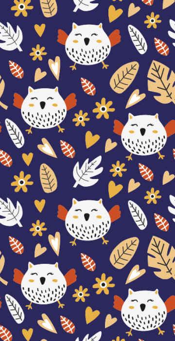 TenStickers. Papier peint bleu grand et petit hibou. Commandez cet incroyable produit de papier peint original aujourd'hui sur notre site web et faites-vous le rapporter chez vous en quelques jours!