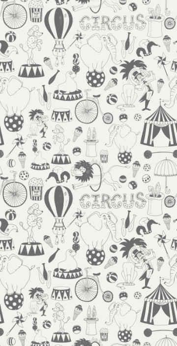 TenStickers. Papier peint couleur nordique de cirque. Ce magnifique papier peint nordique aurait fière allure sur les nombreux murs de votre maison! Peut facilement être appliqué et enlevé sans dommages!