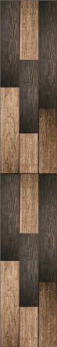TenStickers. Mirosul tapetului cu textura lemnului. Tapet vintage cu o textură care imită lemnul în tonuri de maro închis proiectate cu un decor mai rustic și mai clasic în camera de zi.