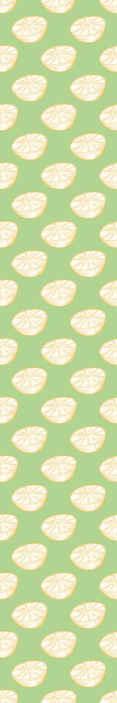 TenStickers. papel parede ornamental Desenhado à mão limão amarelo e verde. Papel de parede de limão que apresenta um padrão de limões desenhados à mão em um fundo verde. Feito sob encomenda. Entrega em todo o mundo.
