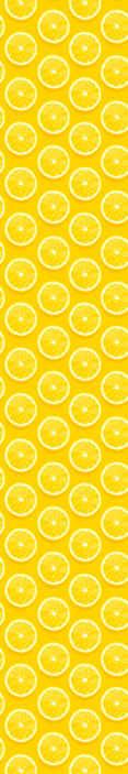 TenStickers. Carta da parati per cucina Limoni a fette. Bellissimo sfondo giallo con motivi di arance a fette. Ottima idea per decorare la tua cucina, sala da pranzo e altri spazi. Facile da applicare.