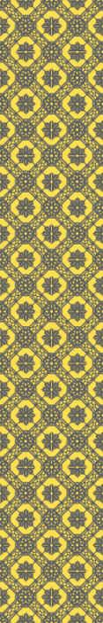 TenVinilo. Papel pintado floral patrón amarillo y negro. ¡Compre este papel pintado floral para salón hoy! Este diseño realmente le dará a su casa mucha más luz ¡Envío exprés a domicilio!