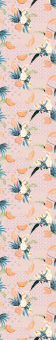 TenStickers. Behang kinderkamer Roze achtergrond met roze stippen en vogels. Slaapkamerbehang idee voor uw huis, het kan ook op elke andere ruimte in huis worden gedecoreerd. Decoreer uw kinderkamer en bestel hem nu!