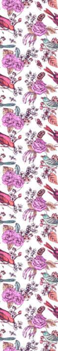 TenStickers. Behang bloemen Helder roze bloem met vogels op takken. Helder roze bloem met vogels op takken natuur behang. Het behang zou elke ruimte een schitterende en aantrekkelijke uitstraling geven.