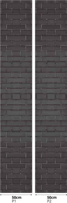 TenStickers. Modern stone pattern grey effect wallpaper. Realistic looking grey brick stone patterned wallpaper to cover a wall. Beautiful luxury wallpaper for living room, lounge, hallway, office, etc.