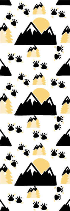 TenStickers. footprints in mountaint on white background Scenery Wallpaper. Give this amazingly cute wallpaper to your baby! This amazing vinyl wallpaper will look absolutely adorable in your baby's bedroom! Order now!