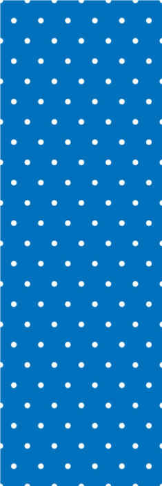 TenStickers. Regular dots on blue background Circle Wallpaper. 3D wallpaper for living room, bedroom and any other space. The wallpaper host a blue background with white dots. Made of quality, resistant to rumple.