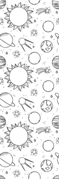 TenStickers. Children version space Starry Wallpaper. Order our children version starry space elements wallpaper online. The wallpaper is made with a white background, hosting all it starry illustrations.