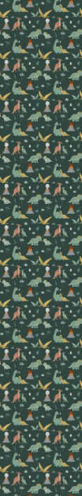 TenStickers. Dinosaurs, palms and volcanos Kids Wallpaper. This dinosaur animals with palms wallpaper would immediately transform kid room with a very friendly and interesting appearance. Made of quality.