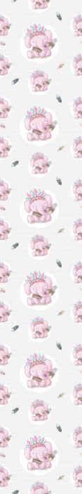 TenStickers. Carta da parati cameretta Elefanti etnici. Abbiamo la carta da parati perfetta per la cameretta dei bambini per il tuo bambino con bellissimi elefanti in rosa. Non aspettare!