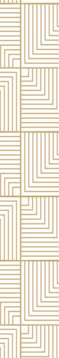 TenVinilo. Papel pared abstracto blanco y dorado. Papel pared abstracto de figuras geométricas en color dorado sobre un fondo blanco que le dará un ambiente elegante y clásico.