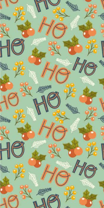 TenStickers. Karácsonyi szövegek társalgó háttérkép. Ho szöveg dísz design karizma háttérkép. Gyönyörű háttérképet lakberendezéshez és egyéb helyekhez. Könnyen alkalmazható és kivehető.