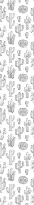 TenStickers. Papier peint retro Style vintage de cactus et de fleurs. Papier peint de style vintage cactus et fleurs - le produit est facile à appliquer, il ne se décolore pas et il dure longtemps sans peler.