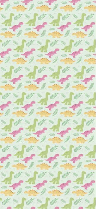 Tenstickers. Dinosaurukset metsässä eläintapetit. Dinosaurukset metsäeläinten taustakuvassa - kauniit lasten makuuhuoneen tapettikoristeet luovat kodikkaan ja mielenkiintoisen tunnelman makuuhuoneessa.