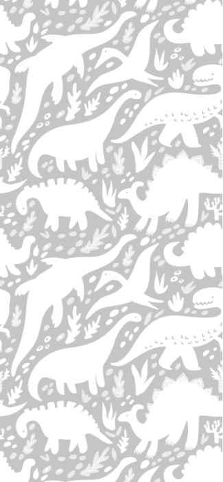 TenStickers. Dieren behang Dinosaurus wit patroon. Dinosaurus wit patroon dierenbehang - als u op zoek bent naar de beste kwaliteit behang voor de kinderkamer, bent u bij ons aan het juiste adres.