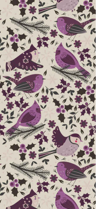 TenStickers. colourful birds Lounge Wallpaper. Bird wallpaper with the illustration of many birds and natural designs that will fill with joy your dining room, bedroom, living room or any space.