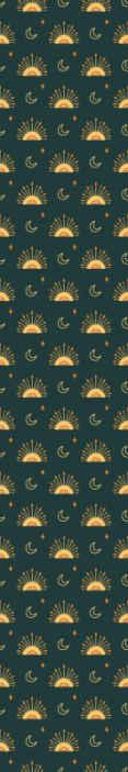 TenStickers. 孩子们的夜空孩子们壁纸. 儿童壁纸,上面有一个美丽的繁星之夜的插图,上面画着月亮和我们梦幻般的宇宙的其他元素。