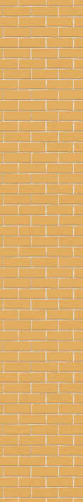 TenStickers. Orange Brick Brick effect wallpaper. Wallpaper with the illustration of bricks perfect for you to give a rustic and classic touch to the decoration of the walls of your kitchen.