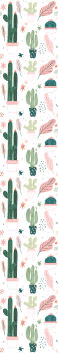 TenStickers. Green cactus Nature Wallpaper. This very amazing looking green cactus wallpaper product will last a very long time in your home! Home delivery for this original design!