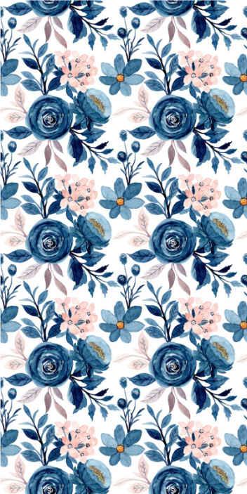 TenVinilo. Papel pintado de flores Patrón de rosa acuarela. Dale vida a tu lugar con un toque de la naturaleza con este elegante papel pared de flores rosas. Producido con material de la mejor calidad.