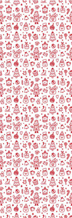 TenStickers. Christmas doodles Xmas Wallpaper. his can be your kid's bedroom Christmas wallpaper decoration, it also can be installed on any other room in a house and on other spaces.