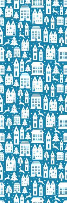 TenStickers. Blue and white Christmas patter Xmas Wallpaper. Bring the joy and aura of Christmas on a space with this amazing featured blue and white pattern Christmas wallpaper. Easy to apply and durable.