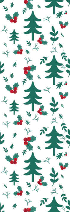 TenStickers. Christams nature Xmas Wallpaper. Beautiful Christmas pattern wallpaper for home and other space decoration for Christmas festivity. It is original and easy to apply.