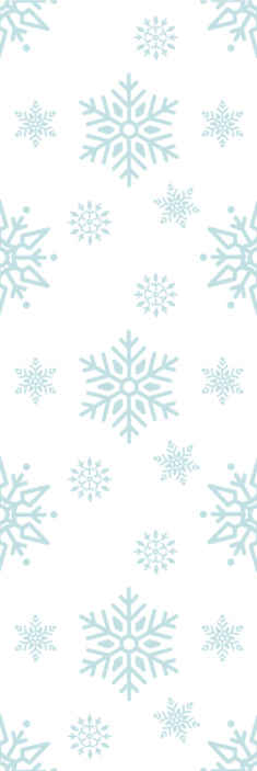 TenStickers. Large snowflakes Xmas Wallpaper. Large snowflakes patterned Christmas wallpaper with white background to decorate a space for Christmas festivity. Highly durable and waterproof.