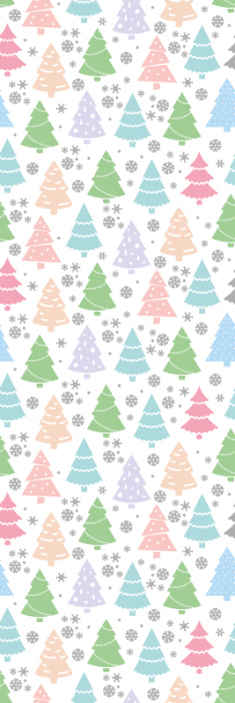 TenStickers. Pastel Modern trees Xmas Wallpaper. This wallpaper roll patterned with Christmas fir trees illustration would look lovely on any space decorated. It is original and easy to apply.