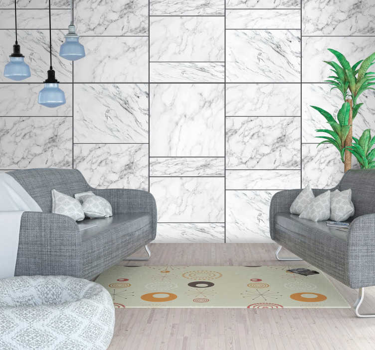 TenStickers. Cold Stone Style Wallpaper. Show your style in your house with this fantastic stone themed wallpaper, depicting a cold style of stone material! Zero residue upon removal.