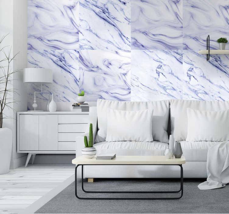 TenVinilo. Papel pintado imitación mármol azulado. Papel decorativo textura mármol azulado para decorar las paredes de tu hogar u oficina de un modo exclusivo, olvidate de paredes monótonas y lisas.