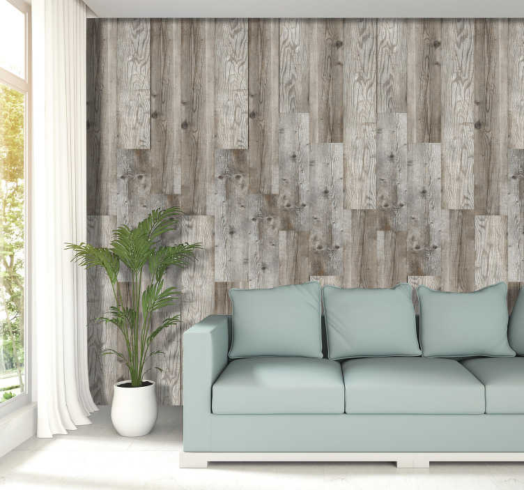 TenStickers. Stylish wood Textured Wallpaper. Magnificent luxury wallpaper of textures and patterns imitating wood. We will provide you all the instructions along with the product.