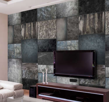 This sublime dark stone wallpaper is perfect for adding a classic and rustic touch to your home in a very economical way.