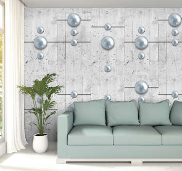 This unusual 3d bedroom wallpaper will make your rooms look interesting and will show your creativity. You can place them in hallway, living room.