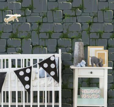 Papel pintado mosaico efecto piedra en tonos de distintos colores para tener un hogar acogedor y confortable.  Hazte con tu papel pintado  y obten una casa hecha a tu medida.