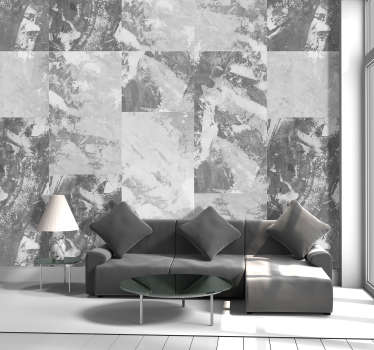 Gray wallpaper with a simple but beautiful pattern composed of concrete rectangles ideal for more minimalist and neutral decorations.