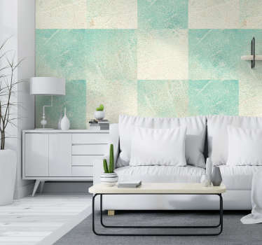 Transform your living room or dining room this amaizing turquoise concrete wallpaper, made of high quality materials, and very long lasting.
