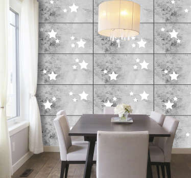 Make your living room the brightest room in the house with this wonderful concrete style wallpaper. High quality product.