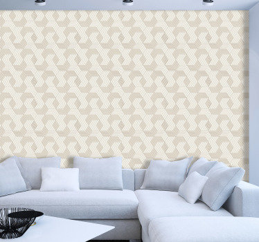 Square pattern wallpaper is a classical and modern choice that will transform your interiors into chic places full of elegance and style.