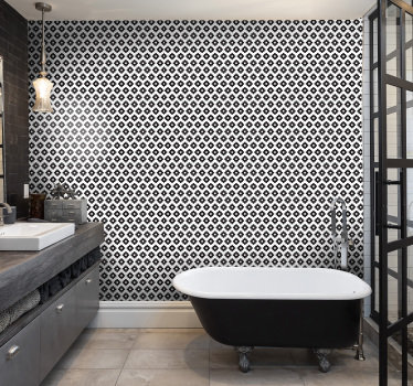 Decorate bathroom with this patterned wallpaper to transform it into a place you will enjoy spending time and proudly show it to your guest.