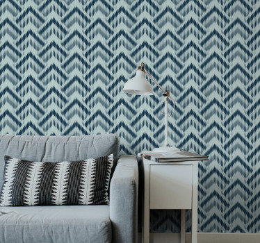 The design of this living room wallpaper with geometric lines and triangles will transform your rooms into a modern piece of art.
