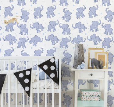 This childrens bedroom wallpaper is a cheap and easy way to totally transform your interiors. Suprise your kids! The design of cute elephants.