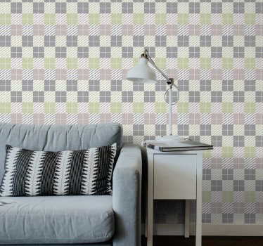 This living room wallpaper with squares might be yours. All you need to do is to choose the size you need and order it now online!