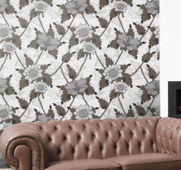 is beautiful floral wallpaper is exactly what you need to decor your walls in a very original way. The product comes with application instructions.