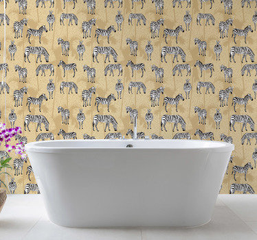 High quality bathroom wallpaper is a great solution for this place. Let those fluffy zebras wander around your rooms! Order it now.