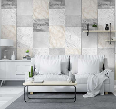 Add some stones to your wall with this fantastic stone wallpaper, depicting them patterned in a unique and original way!