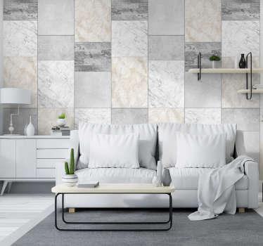 Papel de parede autocolante texturas e padrõestríptico de pedra sublime para decorar as paredes da sua sala de estar ou de jantar.