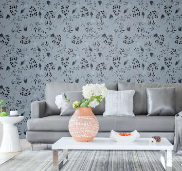 Redecorate your living room with this grey wallpaper. Its design is not only classy and beautiful but this will totally transform your interiros.