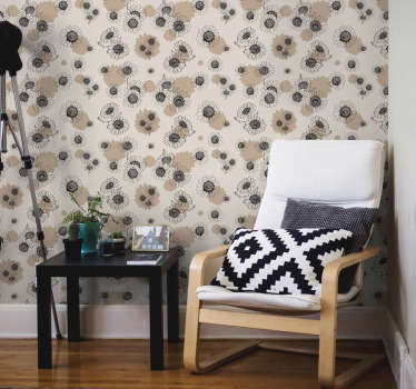 With vintage style ornamental wallpaper you can quickly and cheaply renovate your house. Thanks to the matte finishing you will not get any reflection