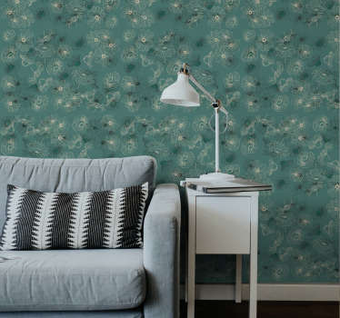 Enjoy flowers every day with this ornamental wallpaper with in a hand drawn style. High quality material and quick delivery!